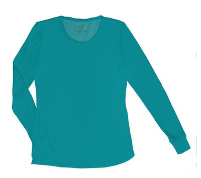 HeartSoul Underscrub Knit Tees Women's Social Butter-Fly Underscrub Knit Tee Blue