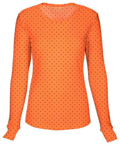 HeartSoul Women's Long Sleeve Underscrub Knit Tee Orange