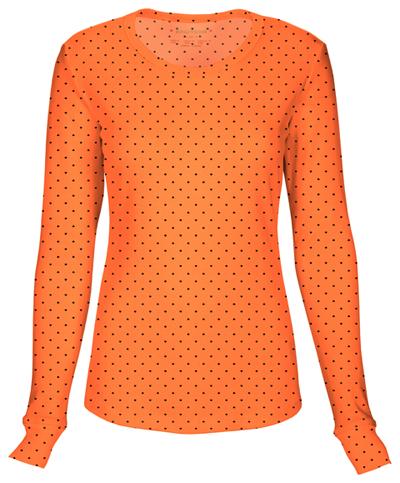 HeartSoul Underscrub Knit Tees Women's Long Sleeve Underscrub Knit Tee Orange