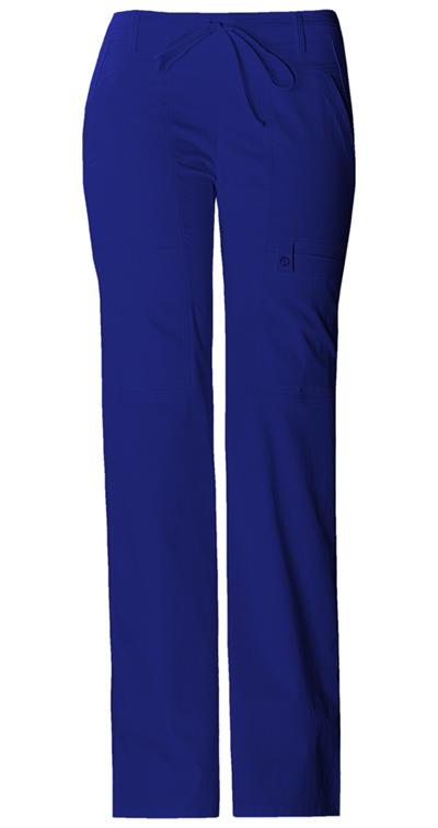 Cherokee Luxe Women's Low Rise Flare Leg Drawstring Cargo Pant Blue