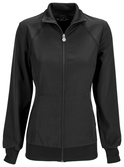 Infinity Women Zip Front Jacket Black