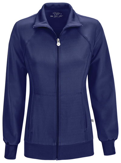 Infinity Women's Zip Front Warm-Up Jacket Blue