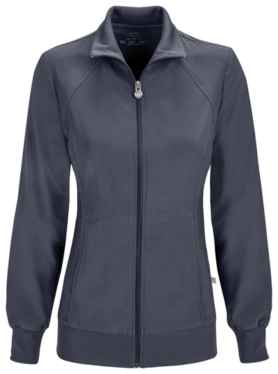 Infinity Women Zip Front Jacket Gray