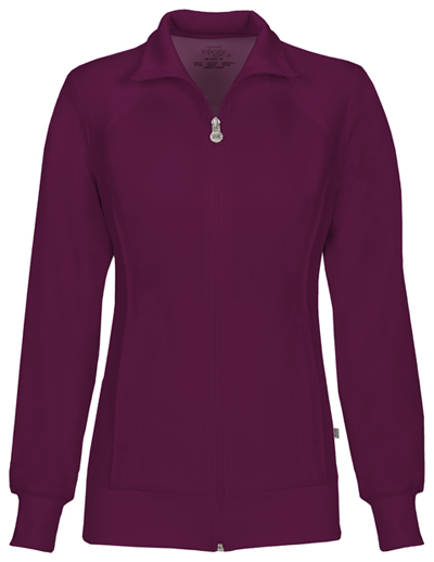 Infinity Women Zip Front Jacket Red