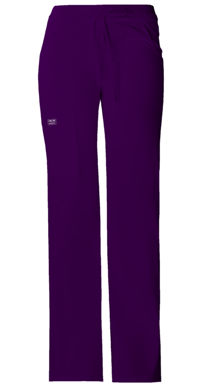 WW Core Stretch Women's Low Rise Drawstring Cargo Pant Purple