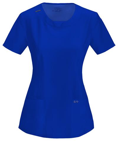 Cherokee Scrubs Infinity Antimicrobial Galaxy Blue Set Top 2624A Pants 1123A NWT
