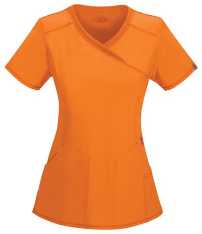 Infinity by Cherokee Women's Mock Wrap Top Orange