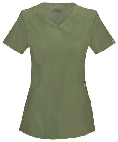 4d4fdd7802d Infinity Mock Wrap Top in Olive 2625A-OLPS from Careway Wellness Center