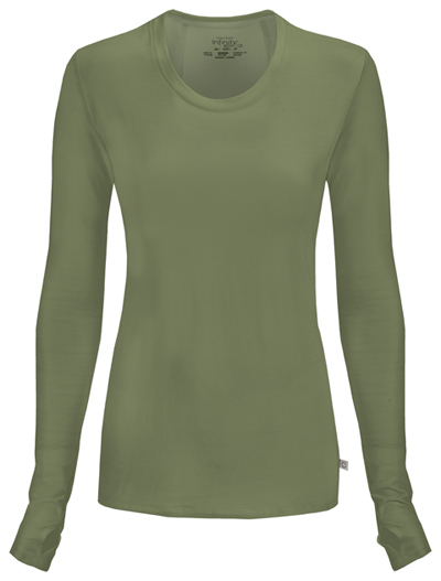 Infinity Women's Long Sleeve Underscrub Knit Tee Green