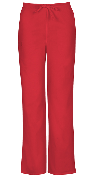 Workwear WW Flex Unisex Unisex Natural Rise Drawstring Pant Red