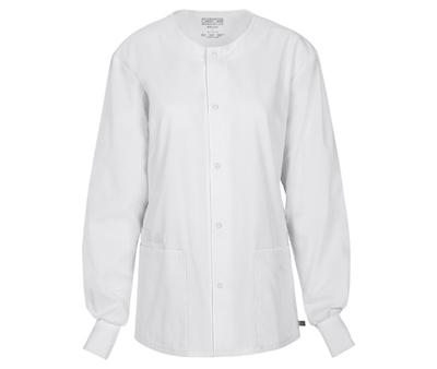 WW Flex Unisex Unisex Snap Front Warm-up Jacket White