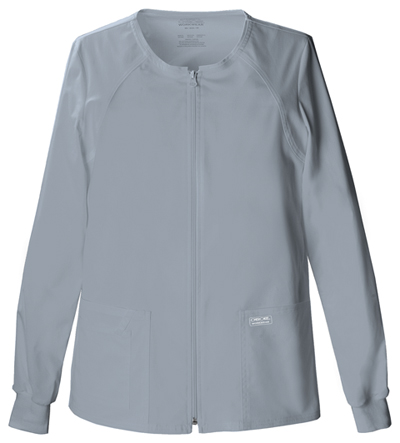 WW Core Stretch Women's Zip Front Warm-Up Jacket Gray