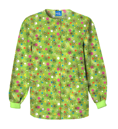 Scrub HQ Cherokee Prints Women's Snap Front Warm-Up Jacket Boba