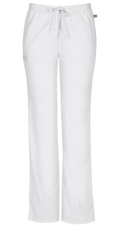 aeab9e073b2 WW Flex Mid Rise Moderate Flare Drawstring Pant in White 44101AP ...