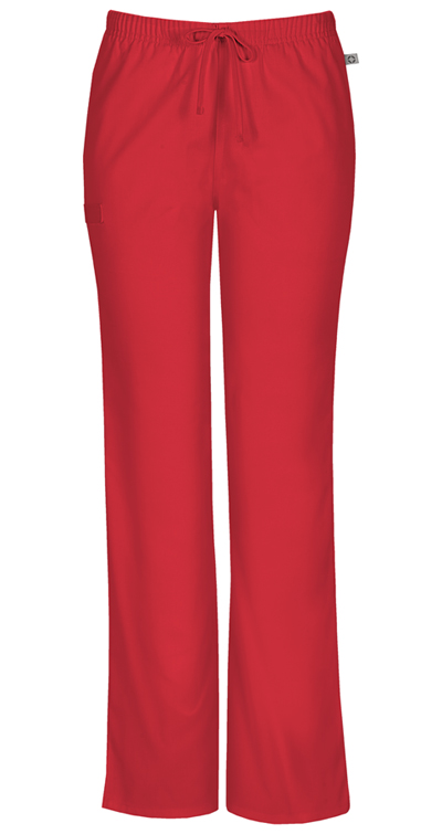 f8c25ada2a8 Photograph of WW Flex Women's Mid Rise Moderate Flare Drawstring Pant Red  44101AT-REDW