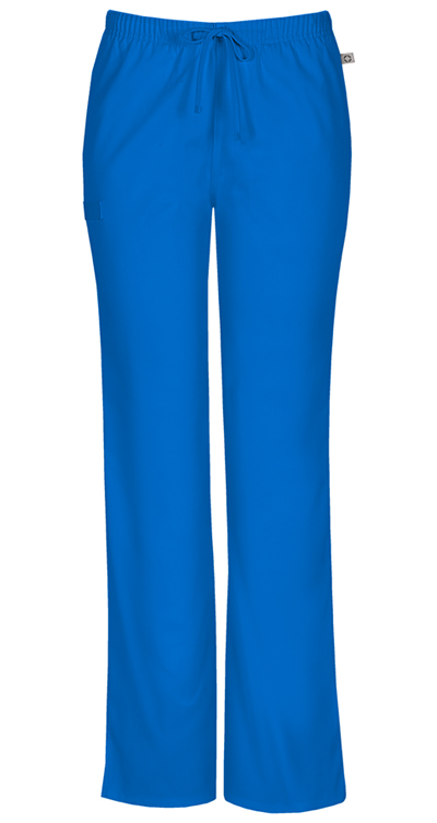 WW Flex Women's Mid Rise Moderate Flare Drawstring Pant Blue