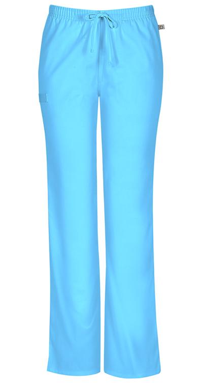 Workwear WW Flex Women Mid Rise Moderate Flare Drawstring Pant Blue
