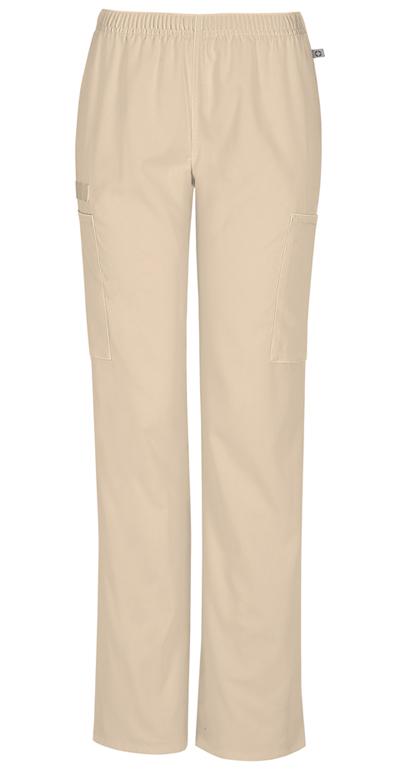 c51c7679508 WW Flex Mid Rise Straight Leg Elastic Waist Pant in Khaki 44200AP ...