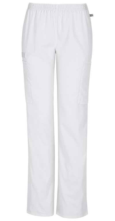 86c8e7591d3 Photograph of WW Flex Women's Mid Rise Straight Leg Elastic Waist Pant  White 44200AT-WHTW