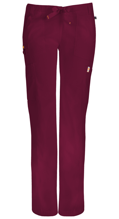 Bliss Women's Low Rise Straight Leg Drawstring Pant Purple