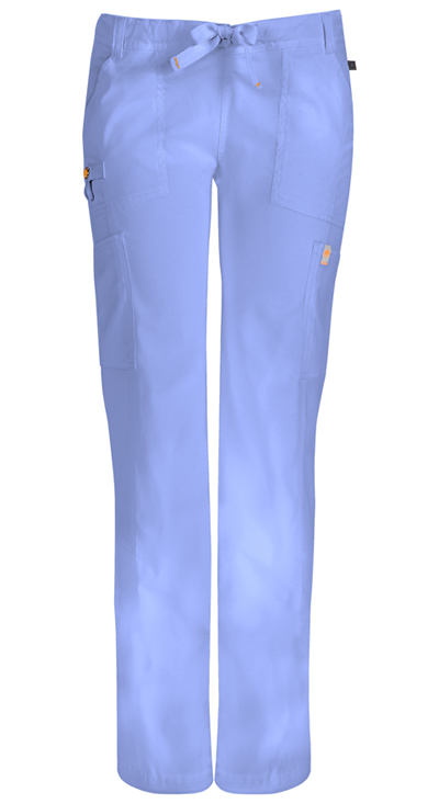 Code Happy Bliss Women's Low Rise Straight Leg Drawstring Pant Blue