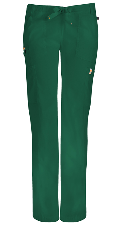 Code Happy Bliss Women's Low Rise Straight Leg Drawstring Pant Green