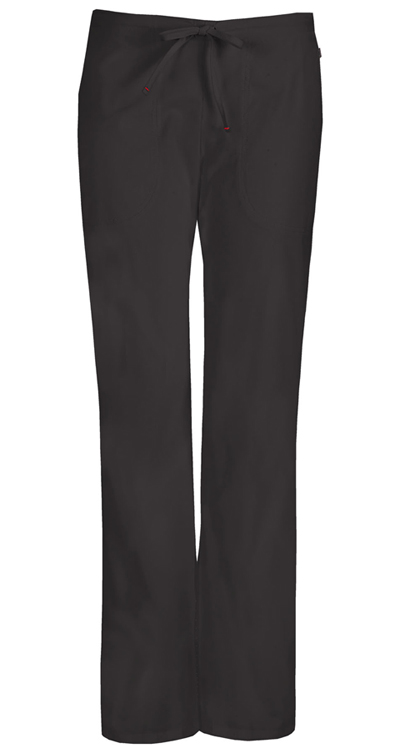 Bliss Women's Mid Rise Moderate Flare Drawstring Pant Black