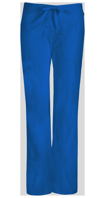Bliss Women's Mid Rise Moderate Flare Drawstring Pant Blue
