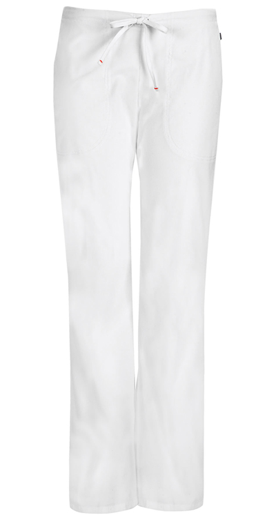 Bliss Women's Mid Rise Moderate Flare Drawstring Pant White