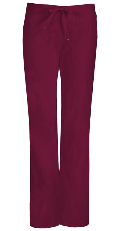 Bliss Women's Mid Rise Moderate Flare Drawstring Pant Purple