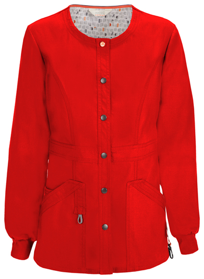 Bliss Women's Snap Front Warm-up Jacket Red