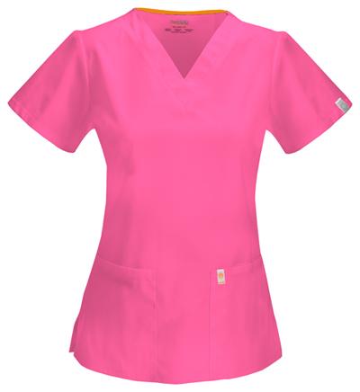Code Happy Bliss Women's V-Neck Top Pink