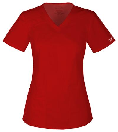 WW Core Stretch Women's V-Neck Top Red