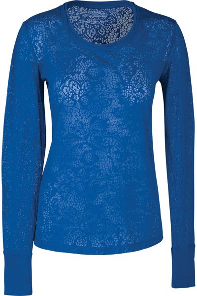 WW Originals Women's Long Sleeve Underscrub Knit Tee Blue