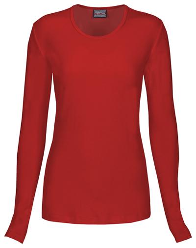 WW Originals Women's Long Sleeve Underscrub Knit Tee Red