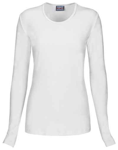 WW Originals Women's Long Sleeve Underscrub Knit Tee White
