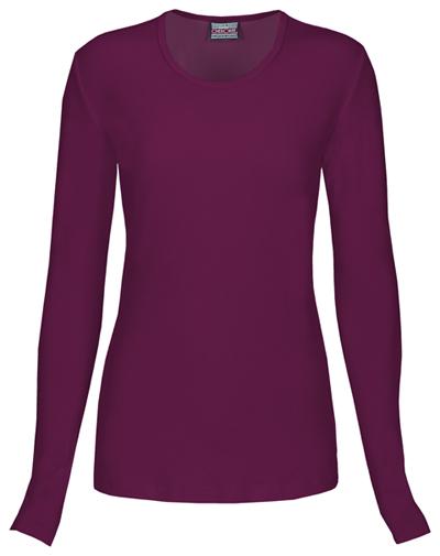 WW Originals Women's Long Sleeve Underscrub Knit Tee Purple