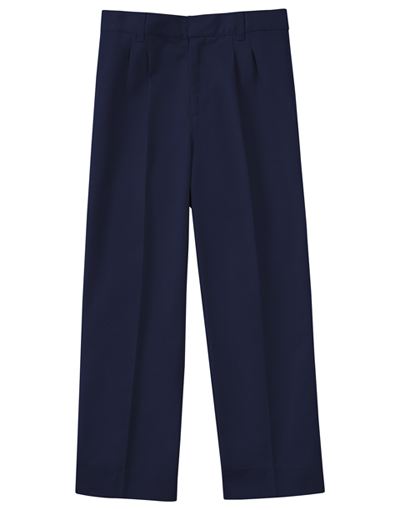 Classroom Uniforms Classroom Boy's Boys Husky Pleat Front Pant Blue
