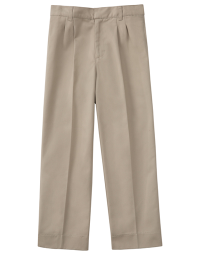 "Classroom Men's Men's Tall Pleat Front Pant 34"" Inseam Khaki"