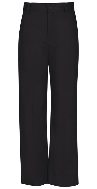 Classroom Girl's Girls Adj. Waist Flat Front Trouser Black