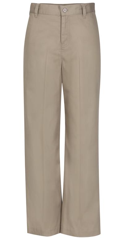 Classroom Girl\'s Girls Adj. Waist Flat Front Trouser Khaki