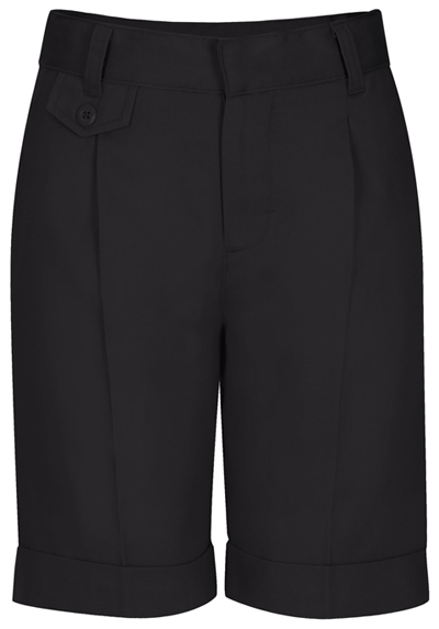 Classroom Girl's Girls Adj. Waist Pleat Front Short Black