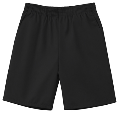 Classroom Child's Unisex Unisex Husky Pull-On Short Black