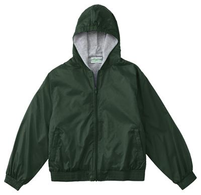 Classroom Unisex Adult Unisex Zip Front Bomber Jacket Green