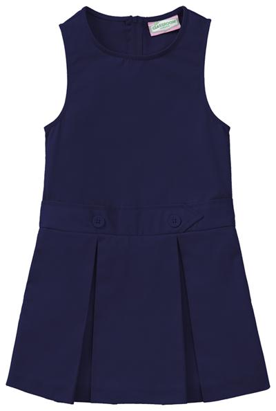 Classroom Girl's Girls Plus Kick Pleat Jumper Blue