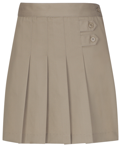 Classroom Girl's Girls Plus Pleated Tab Scooter Brown