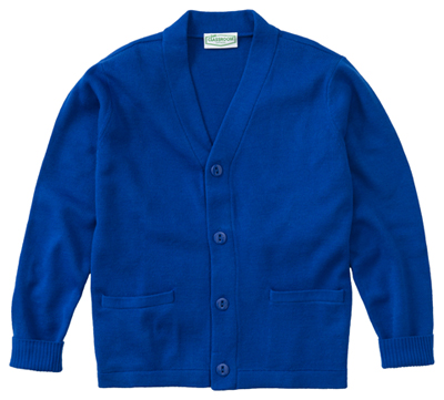 Classroom Child's Unisex Youth Unisex Cardigan Sweater Blue