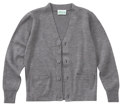 Classroom Unisex Adult Unisex Cardigan Sweater Gray
