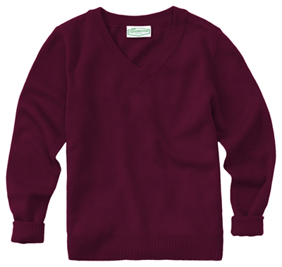 Classroom Unisex Adult Unisex Long Sleeve V-Neck Sweater Purple