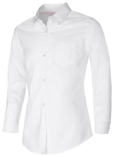 Classroom Junior's Junior Long Sleeve Oxford Shirt White